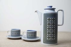 Hornsea Tapestry Coffee Pot, designed by John Clappison, Circa 1970's.