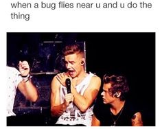 I literally do the EXACT same thing i hate any type of bugs if there is a bug anywhere near the door i will set outside all day if i have to until it leaves and if one comes near me its not a pretty sight to see its quite embarrassing. One Direction Music, One Direction Imagines, Types Of Bugs, Liam James, Larry Stylinson, Liam Payne, When Someone, Of My Life, I Laughed