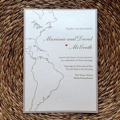 United States / Brazil wedding invitation