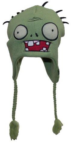 Plants vs. Zombies Adult Winter Ear Flap Hat (One Size) @ niftywarehouse.com #NiftyWarehouse #Geek #Horror #Scary #Halloween
