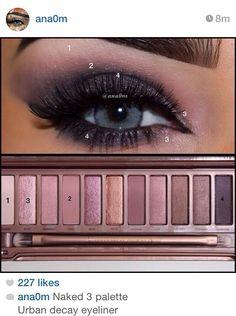 Urban Decay Eyeliner, Urban Decay Makeup, Maquillage Urban Decay, Urban Decay Smokey Palette, Urban Decay 3, Eye Makeup Steps, Makeup Eye Looks, Mac Makeup, Smokey Eye Makeup
