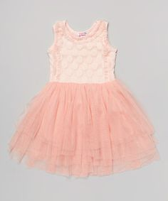 Another great find on #zulily! Pink Chiffon Dress - Toddler & Girls by Di Vani #zulilyfinds