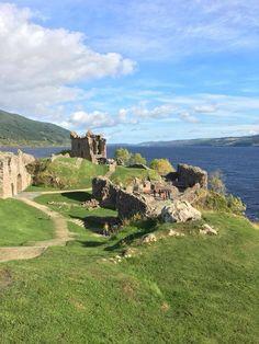 Urquhart Castle ruins, Loch Ness, Scotland