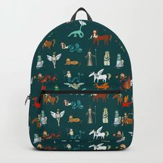 Creatures Backpack by laurafrere Graphic, Fashion Backpack, Creatures, Backpacks, Patterns, Stuff To Buy, Bags, Pattern, Block Prints