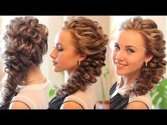 ▶ Прическа из обратной французской косы. Reverse French Braid Hairstyle - YouTube