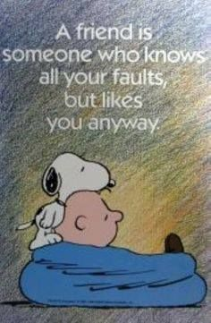 true friends--Snoopy and Charlie Brown Snoopy Love, Snoopy And Woodstock, Snoopy Quotes Love, Thank You Snoopy, Peanuts Cartoon, Peanuts Snoopy, The Peanuts, Peanuts Quotes, Funny Quotes