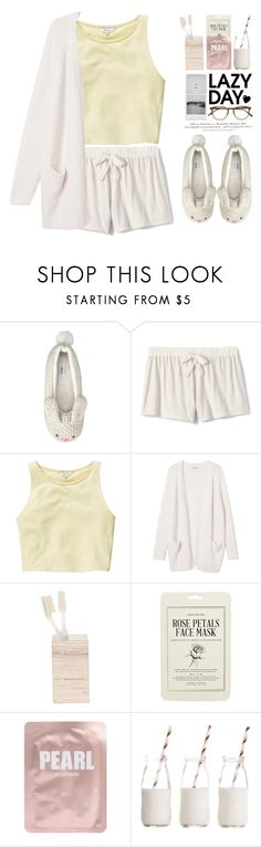 """Sleep In: Lazy Day"" by fashiondiaryy ❤ liked on Polyvore featuring John Lewis, Lands' End, Talula, Monki, Pigeon & Poodle, Kocostar, Lapcos, Dress My Cupcake, H&M and Garrett Leight"
