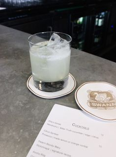"""A """"thoughtfully sourced kitchen and bar, """" On Swann was created by a group of friends to bring a level of hip to Hyde Park dining that hadn't been seen… Cocktail Bitters, Craft Cocktails, Hyde Park, Prosecco, Tampa Bay, Glass Of Milk, Grid, Lemon"""