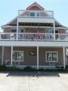 Patriotic Flags Decorated An Ocean City Nj Beach House On Memorial Day Weekend
