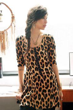 Jewelry Designer Pamela Love's amazing leopard print dress.