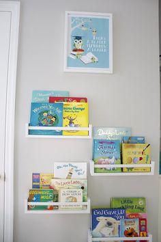 book shelves - spice racks from IKEA