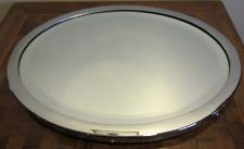 ANTIQUE art deco chromed plateau tray with mirror fr decanter & glasses footed