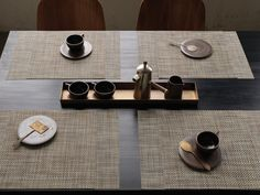 Chilewich placemats and runners are beautiful, easy to clean and durable. Available in oval, round, square and rectangle shapes.