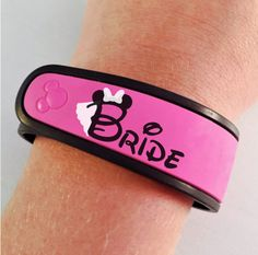 Bride or Groom Decal for your Disney Magic Band - Completely Customizable - Glitter Upgrade Available Disney World Honeymoon, Honeymoon On A Budget, Disney World Wedding, Disney Bride, Disney Inspired Wedding, Best Honeymoon, Disney Vacations, Honeymoon Ideas, Disney Bachelorette