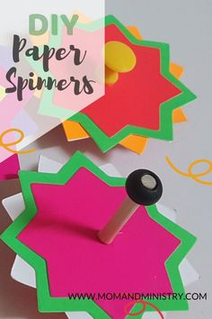 Make this extremely fun, affordable toy spinner with your kids. Add to your list of DIY toys and enjoy the fun. Click to see the spin #DIYtoys#papertoys#topsandspinners Craft Projects For Kids, Paper Crafts For Kids, Arts And Crafts Projects, Fun Crafts, Rainy Day Activities For Kids, Free Activities, Toddler Activities, Painting For Kids, Art For Kids