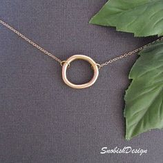 Circle Necklace - Dainty Gold Necklace - Eternity Necklace -... review at Kaboodle