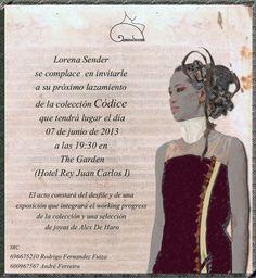 Invitación desfile Códice