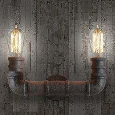 An eclectic water pipe wall piece perfect to light the hallways of a busy cafe, restaurant, bar, or for the loft at home. Reminiscent of an industrial era. Rustic Wall Lighting, Loft Lighting, Pipe Lighting, Copper Lighting, Vintage Lighting, Wall Sconce Lighting, Wall Sconces, Lighting Ideas, Primitive Bedroom