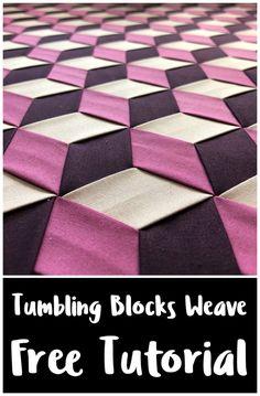 Fabric Manipulation Tutorial, Fabric Manipulation Techniques, Quilting Tutorials, Craft Tutorials, Quilting Designs, Origami Patterns, Weaving Patterns, Paper Weaving, Fabric Weaving