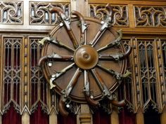 Interior Weapon Display In The Great Hall Edinburgh Castle Scotland UK Stock Photo