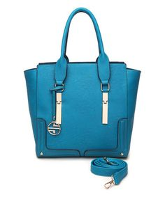 Another great find on #zulily! Turquoise Framed-Base Convertible Tote #zulilyfinds