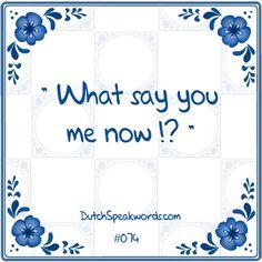 Wat zeg je me nou? Dutch speakword