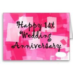 First Wedding Anniversary Cards