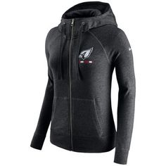 Women's Nike Black Arizona Cardinals Gym Vintage Full-Zip Hoodie