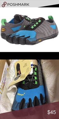 Vibram Five Fingers Women's Trek Ascent size 37 Polyester and spandex upper. Upper envelopes the foot to help keep debris out. Speed lace system allows for quick-and-easy adjustments, and accommodates a wider foot or higher instep. 4 mm polyurethane insole with Dri-Lex® sock liner featuring antimicrobial technology for a great in-shoe environment. 4 mm EVA midsole provides lightweight cushioning and shock absorption. 4 mm Vibram® rubber outsole provides exceptional underfoot feel without…