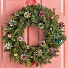 Deck the halls with these gorgeous winter wreaths that will bring holiday cheer to your Christmas decor. Christmas wreaths are often made with fir, but we share alternative wreath supplies that could inspire this year's front door. Homemade Christmas Wreaths, Holiday Wreaths, Holiday Crafts, Winter Wreaths, Spring Wreaths, Summer Wreath, Winter Christmas, All Things Christmas, Christmas Balls