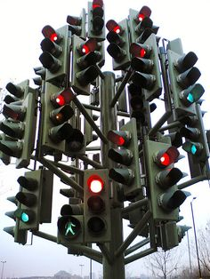 Traffic Light Sculpture in London