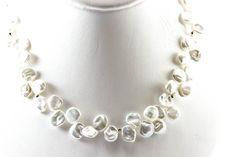 Keshi petal pearl necklace(10mm, AAAA Grade) - Click Image to Close