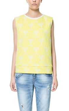 FLOWER JACQUARD TOP - Shirts - TRF | ZARA United States
