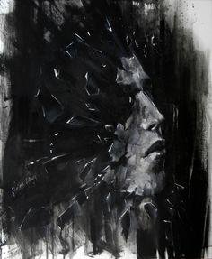 BUILT OF GLASS - Józefina Litwin, acrylic on canvas, 2015