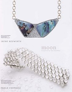Mitchells Catalog Fall 2012 featuring Paolo Costagli's Moonstone and Diamond Bracelet set in 18kt White Gold