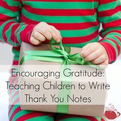 Teach kids to write thank you notes