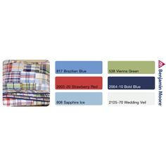 Pottery Barn Kids Madras Quilt coordinate colors from Benjamin Moore
