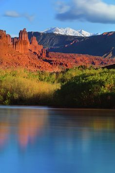 Fisher towers located about 20 miles northeast of Moab in southeastern Utah, is one of most scenic landscapes along Colorado River | Photo by Proframe Photography with Pin-It-Button on FineArtAmerica