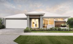 Ultra modern elevation with double door entry and feature cladding