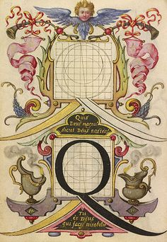 Guide for Constructing the Letter Q (Getty Museum)