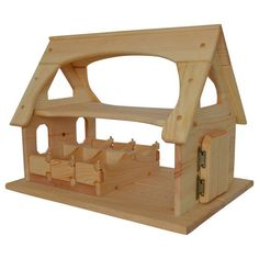 Sam's Stable - Wooden Toy Barn