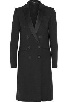 Gucci Double-breasted satin-trimmed stretch-wool coat   NET-A-PORTER