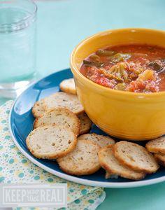 Quinoa Veggie Soup | KeepYourDietReal.com #quinoa #soup #veggie