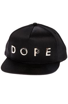 DOPE Hat Precise Gold Metal Snapback in Black