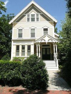 white shingle house