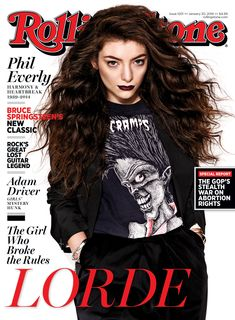 Lorde on the January 30, 2014 cover.