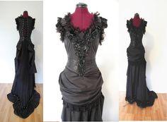 Gothic goth vampire full length Halloween costume by hhfashions