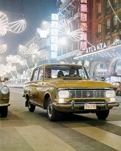 Promotional photograph for the VAZ Moskvitch car, USSR Moto Bike, Retro Cars, Old Cars, Motor Car, Cars And Motorcycles, Old Photos, Transportation, Classic Cars, Automobile