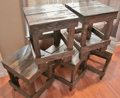 Pallet Wood Bar Stools by UpcycledWoodworks on Etsy