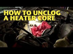 Flushing a heater core.  He uses CLR, which I've heard is the best way to really clean it out...